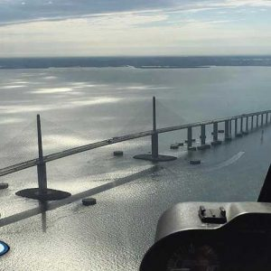 skyway bridge helicopter tour