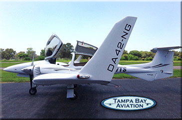 tampa bay aviation diamond da42 discovery flight