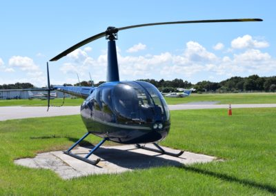Our Robinson 44 at our Clearwater Airpark location