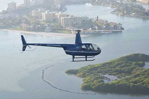 helicopter tours of tampa bay beaches